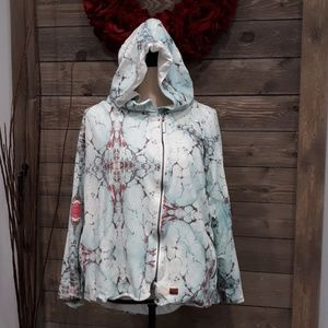 Peace Love World Reversible Hooded Jacket